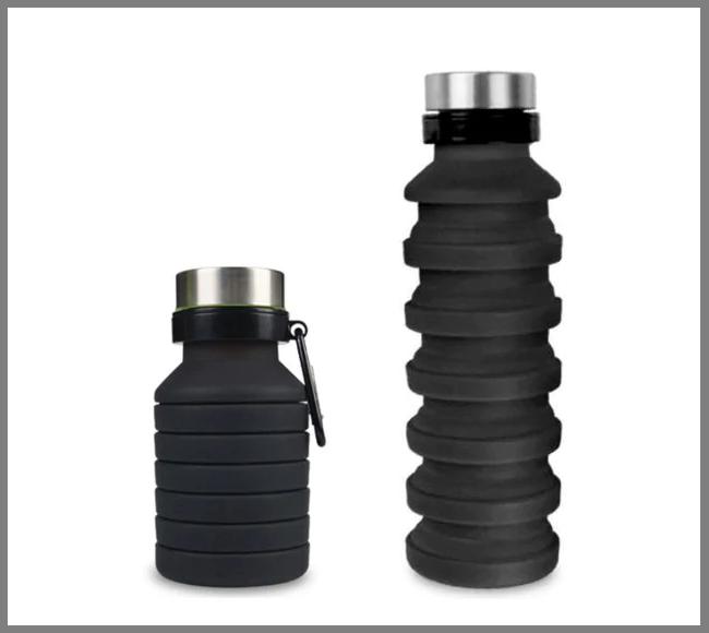 Силиконовая бутылка LUX Bottle (черная)