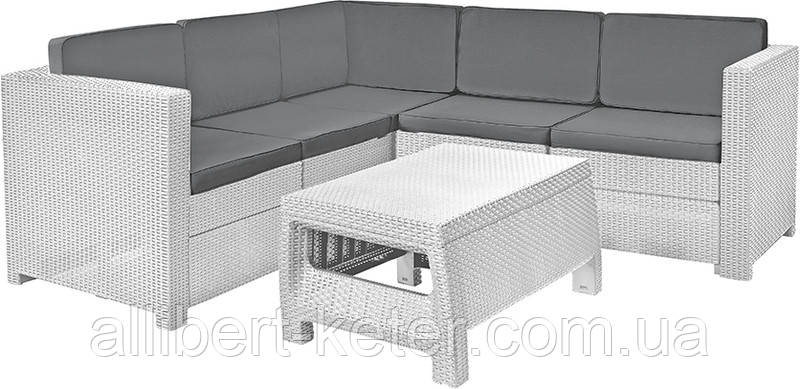 Набор садовой мебели Provence Set White ( белый ) из искусственного ротанга