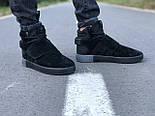 Мужские кроссовки Adidas Tubular Invader Triple black черные замша 40-44рр. Живое фото. (Реплика ААА+), фото 4