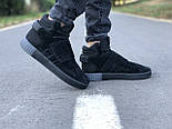 Мужские кроссовки Adidas Tubular Invader Triple black черные замша 40-44рр. Живое фото. (Реплика ААА+), фото 5