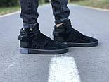 Мужские кроссовки Adidas Tubular Invader Triple black черные замша 40-44рр. Живое фото. (Реплика ААА+), фото 7