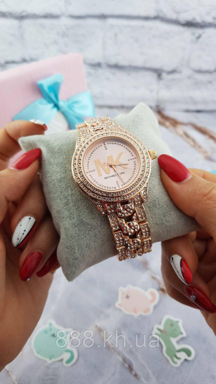 Женские наручные часы Michael Kors копия класса люкс, жіночі годинники Michael Kors (розовое золото/розовый)
