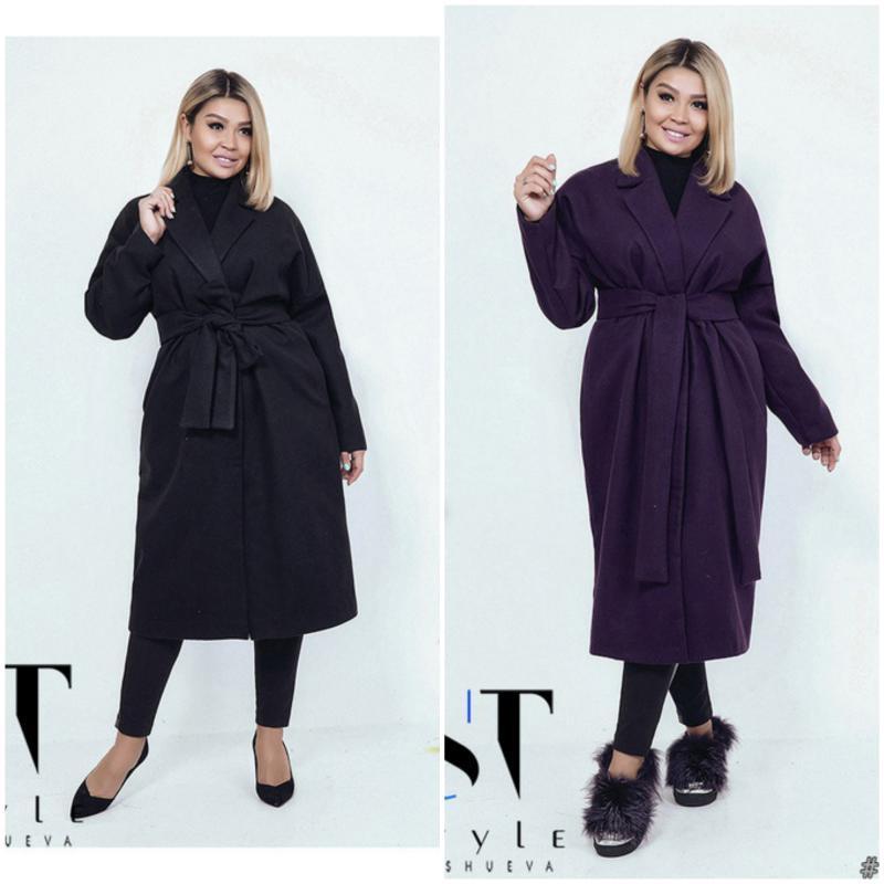 Пальто женское кашемировое  мод.03866 ХЛ+