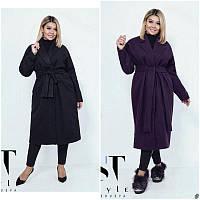 Пальто женское кашемировое  мод.03866 ХЛ+, фото 1