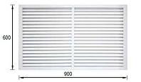 Решетка вентиляционная 900 х 600 экран радиаторный для батареи