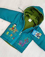 Детская демисезонная куртка с капюшоном для девочки Размер 74,80  на 9 и 12 месяцев