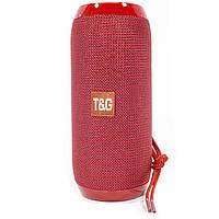 ★Портативная колонка T&G TG117 Red с флешкой и радио блютуз мощная USB