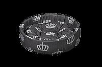 """Лежак (лежанка) для домашних животных Мур-Мяу  """"Сиеста """" Серый"""