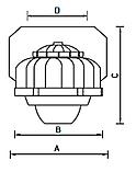 LED светильники для низких потолков IP65, Световые технологии ACORN LED 30 D150 5000K [1490000040], фото 3