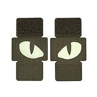 Нашивка M-Tac Tiger Eyes (пара) Ranger Green, фото 1