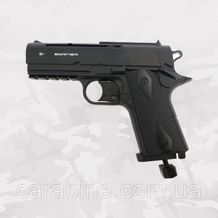 Пневматический пистолет Borner WS 401 газобаллонный CO2
