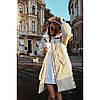 Куртка пуховик женская теплая с капюшоном Зима 7659 молочный
