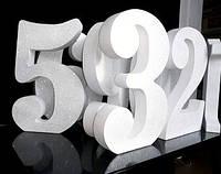 Цифры из Пенопласта 30 см [100мм] Объемные Большие Декоративные Декорации буквы на свадьбу слова з пінопласту, фото 1