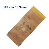 Крафт-пакеты 100*320 мм для стерилизации (100 шт/уп)