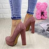 Туфлі жіночі на підборах Alana пудрові, фото 2