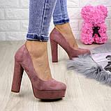 Туфлі жіночі на підборах Alana пудрові, фото 3
