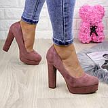 Туфлі жіночі на підборах Alana пудрові, фото 4