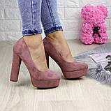 Туфлі жіночі на підборах Alana пудрові, фото 5