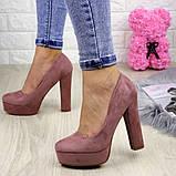 Туфлі жіночі на підборах Alana пудрові, фото 6
