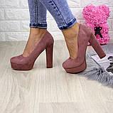 Туфлі жіночі на підборах Alana пудрові, фото 7