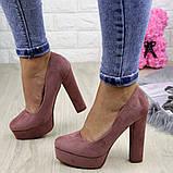 Туфлі жіночі на підборах Alana пудрові, фото 8