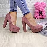 Туфлі жіночі на підборах Alana пудрові, фото 9