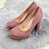 Туфлі жіночі на підборах Alana пудрові, фото 10
