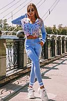 Женский вязаный комбез: кардиган, топ и штаны (в расцветках)