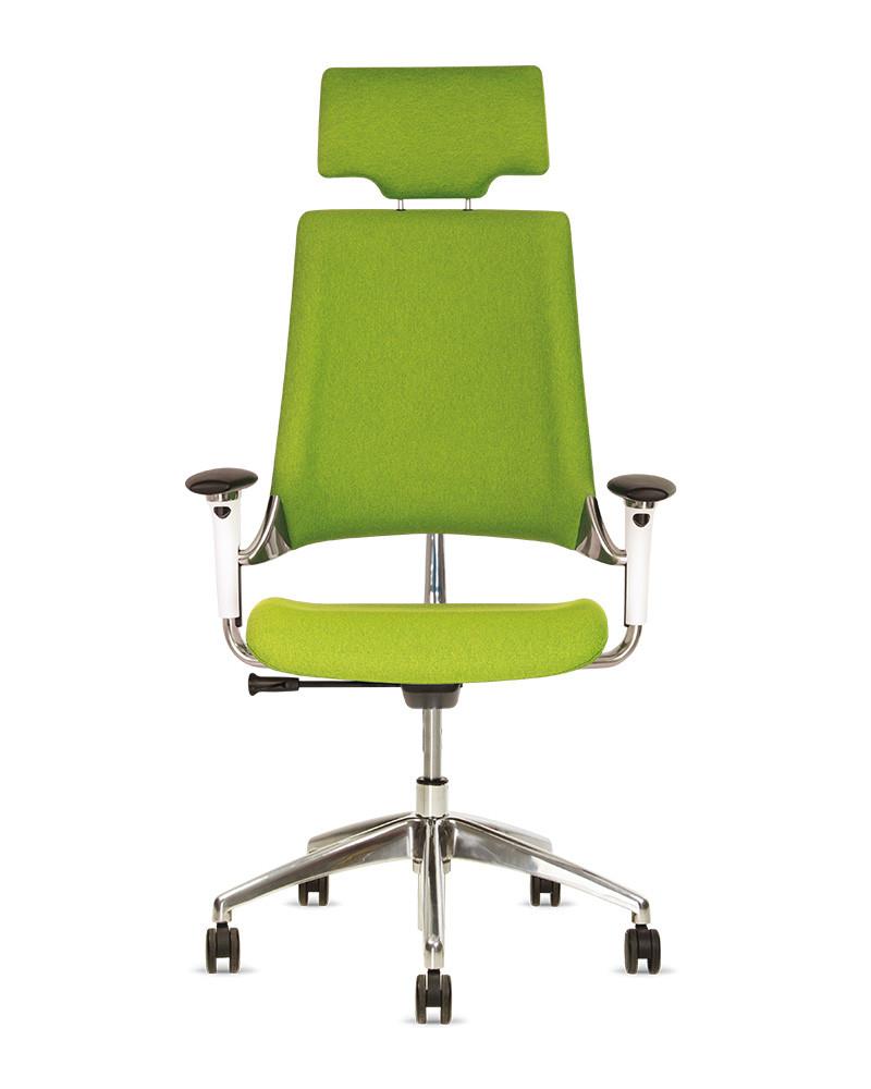 Кресло офисное Hip Hop R HR пластик белый крестовина AL33, ткань CSE-16 (Новый Стиль ТМ)