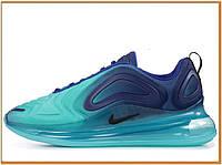 Мужские кроссовки Nike Air Max 720 Deep Royal Blue (найк аир макс 720, синие / голубые) новинка 2019