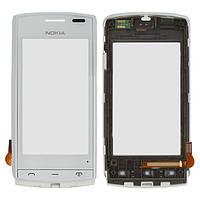 Сенсор (тачскрин) Nokia 500 with frame White