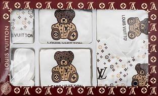 Подарочный набор для новорожденного Louis Vuitton ,7 предметов.