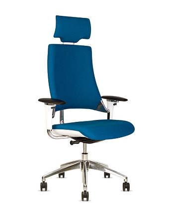 Крісло офісне Hip Hop R HR пластик білий хрестовина AL33, тканина CSE-15 (Новий Стиль ТМ), фото 2