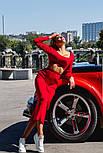 Женский вязаный костюм: топ и юбка-миди (в расцветках), фото 4