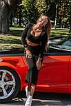Женский вязаный костюм: топ и юбка-миди (в расцветках), фото 3