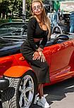 Женский вязаный костюм: топ и юбка-миди (в расцветках), фото 2