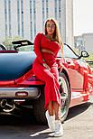 Женский вязаный костюм: топ и юбка-миди (в расцветках), фото 8
