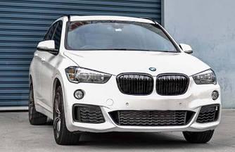 Решетки радиатора ноздри BMW X1 F48 стиль M (черный глянц)