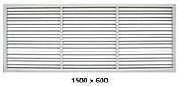Решетка вентиляционная 1500 х 600 экран радиаторный для батареи цвет белый
