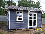Дачный домик 6м х 6м ,  2 ЭТАЖА  с КРЫЛЬЦОМ  из БЛОКХАУСА, фото 2