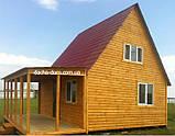 Дачный домик 6м х 6м ,  2 ЭТАЖА  с КРЫЛЬЦОМ  из БЛОКХАУСА, фото 4