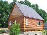 Дачный домик 6м х 6м ,  2 ЭТАЖА  с КРЫЛЬЦОМ  из БЛОКХАУСА, фото 5