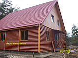 Дачный домик 6м х 6м ,  2 ЭТАЖА  с КРЫЛЬЦОМ  из БЛОКХАУСА, фото 6