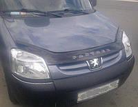 Дефлектор на капот (мухобойки) Peugeot Partner 2002-2008