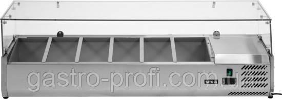 Вітрина холодильна настільна 6хGN 1/3 YatoGastro YG-05330