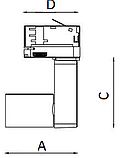 LED Трековый светильник IP20, Световые технологии TIDY T 18 WH D45 3000K [1444000070], фото 3