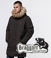 Braggart Arctic 91127 | Парка мужская зимняя коричневая, фото 1