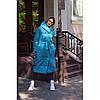 Пальто одеяло женское теплое с поясом 7654 р 42-52
