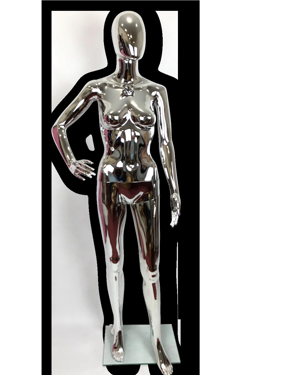 Манекен женский серебро