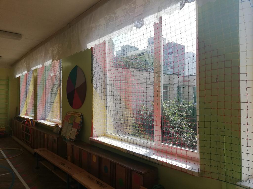 Защитно-заградительная сетка на окна для Детского сада г. Киев